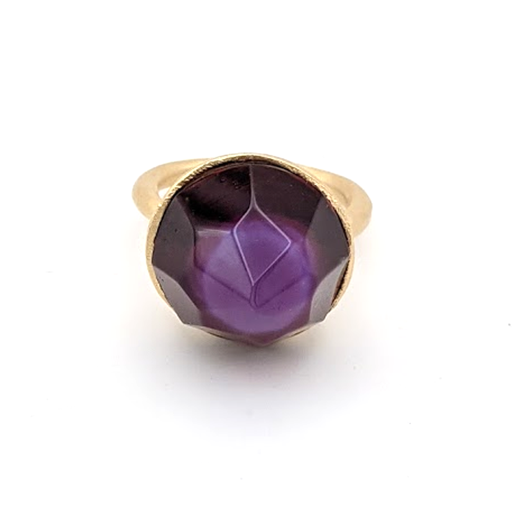 One of a Kind Faceted Ring