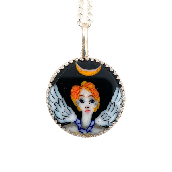 Angel Murrini Pendant by Lunacy Glass