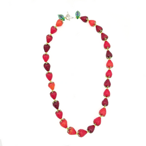 Load image into Gallery viewer, Strawberry Necklace by Lunacy Glass