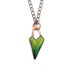 Enamel Heart Pendant by Janet Crosby