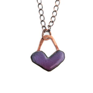 Load image into Gallery viewer, Enamel Heart Pendant by Janet Crosby