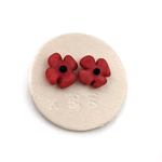 Poppy Flower Stud