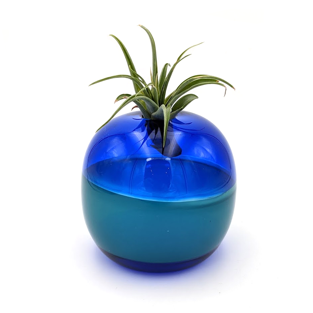 Handblown Glass Planter