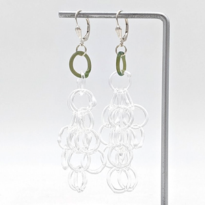 Load image into Gallery viewer, Large Glass Tassel Earrings
