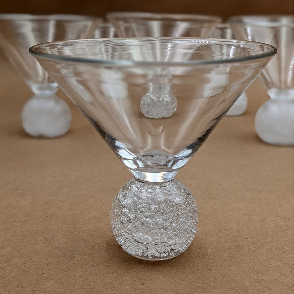 Load image into Gallery viewer, Bubble Bath Martini Glass by Nao Yamamoto
