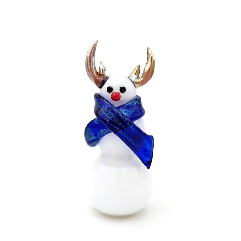 Reindeer Snowman with Scarf
