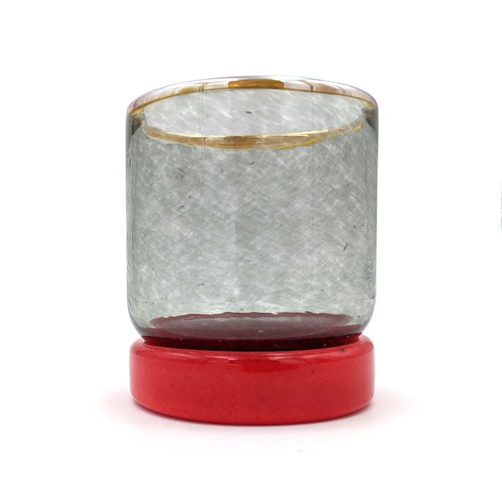 Puck Cup - Grey Red & Gold