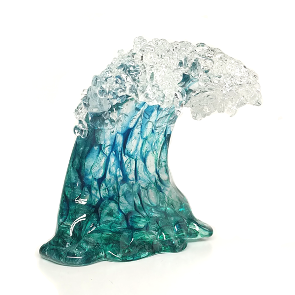 Small Sculpted Wave by Seattle Glassblowing Studio