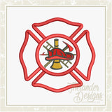 GG1007 Fireman Shield Applique