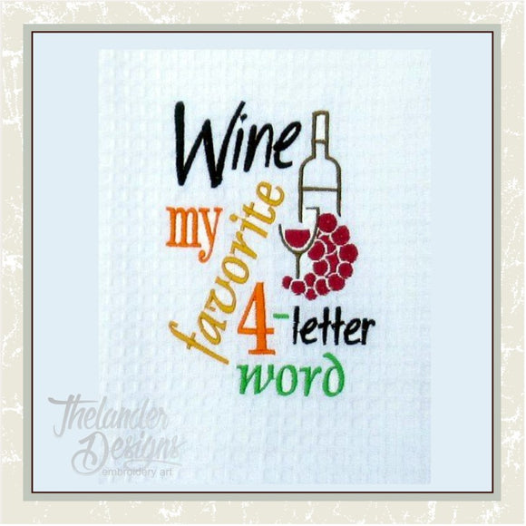 GG1293 Wine Four Letter Word