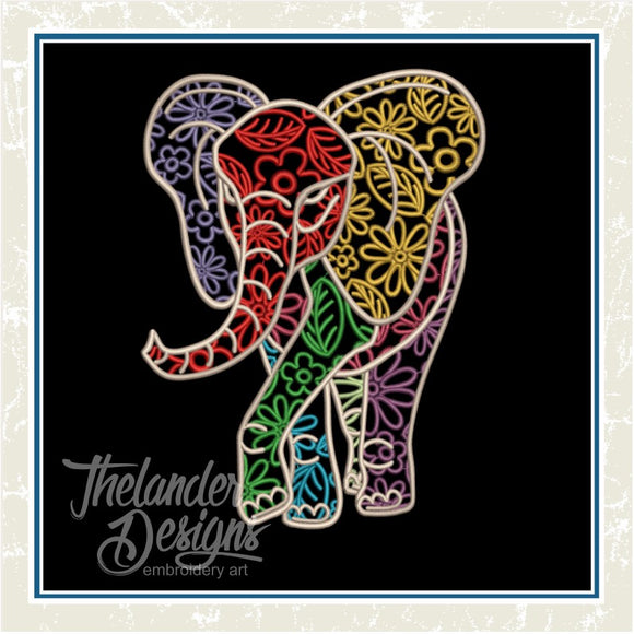 GG1380 Swirly Elephant