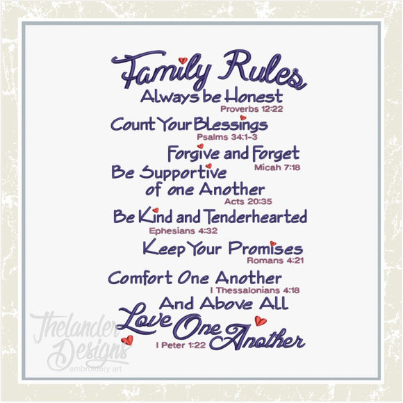 GG1965 Family Rules