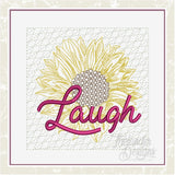 T1625 LAUGH Sunflower Quilt Block