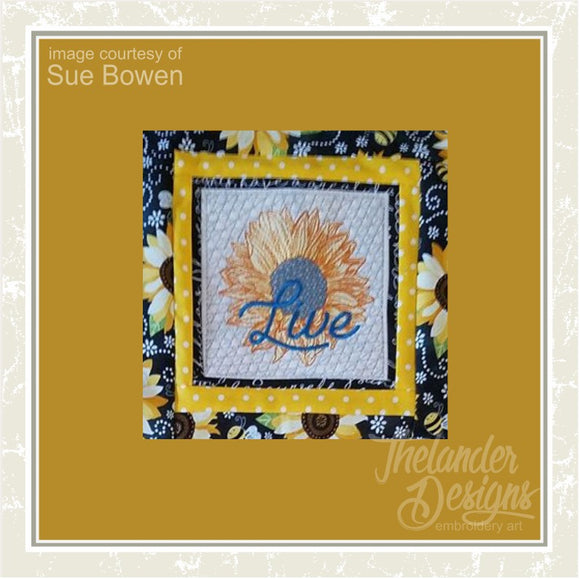 T1624 LIVE Sunflower Quilt Block