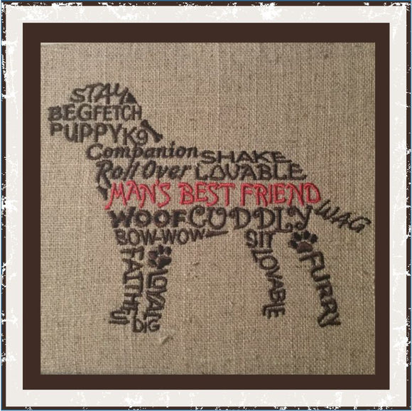 T1022 Man's Best Friend Word Art