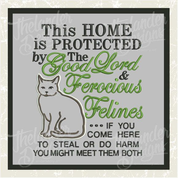 T1121 This Home Felines