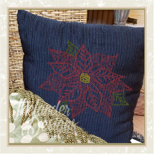 T1222 Bean Stitch Poinsettia