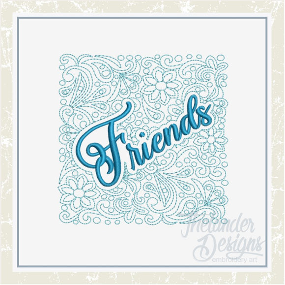 T1397 Friends Quilt Block