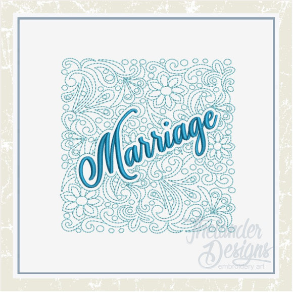 T1415 Marriage Quilt Block