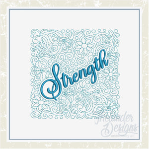 T1426 Strength Quilt Block