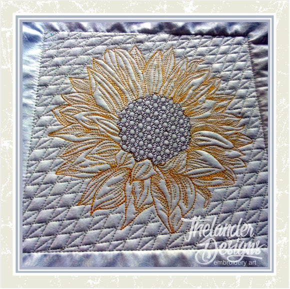 T1627 Filled Sunflower Quilt Blocks
