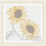 T1629 Sunflower Duo Quilt Blocks
