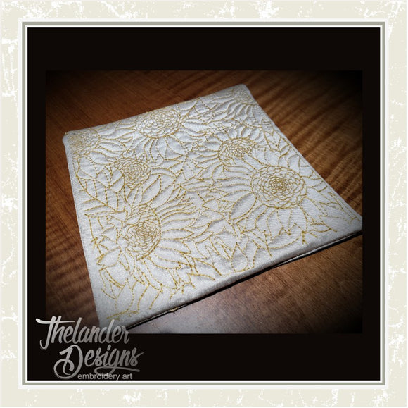 T1679 Sunflower Drink Coasters