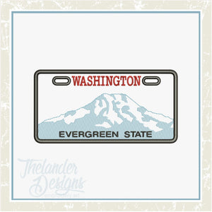 T1742 Washington License Plate