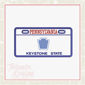 T1744 Pennsylvania License Plate