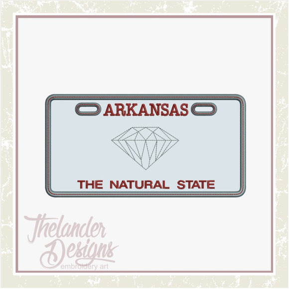 T1747 Arkansas License Plate