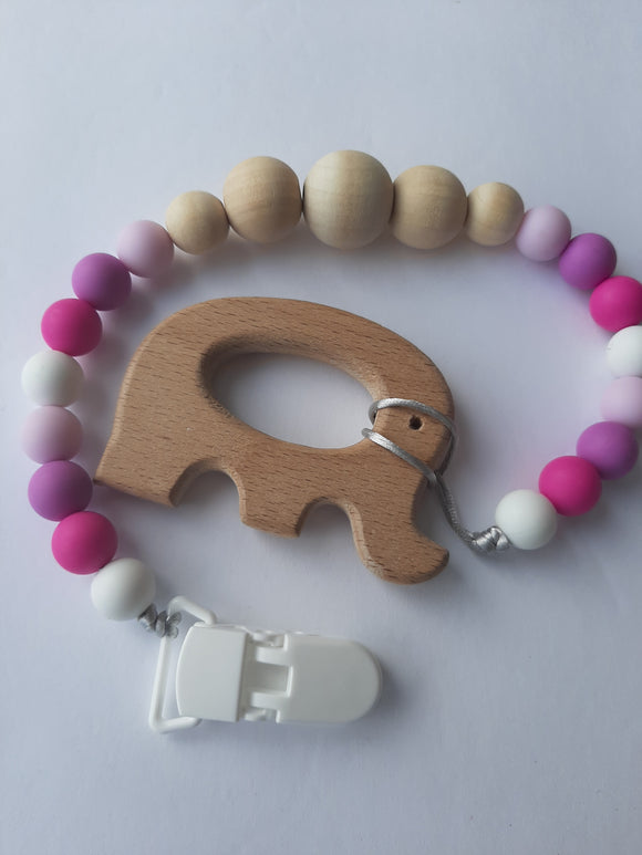 Soother Clip with Beechwood Accesory