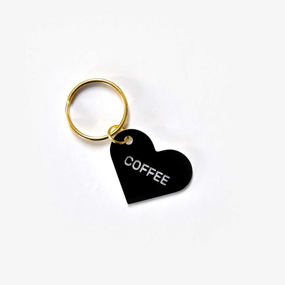 Coffee Heart Keytag