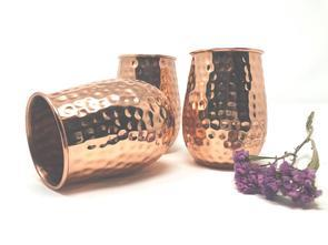 Copper Hand Hammered Cups