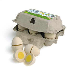 Eggs to Cut wooden Play Food