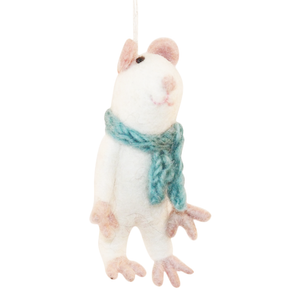 Felted Mouse Ornament