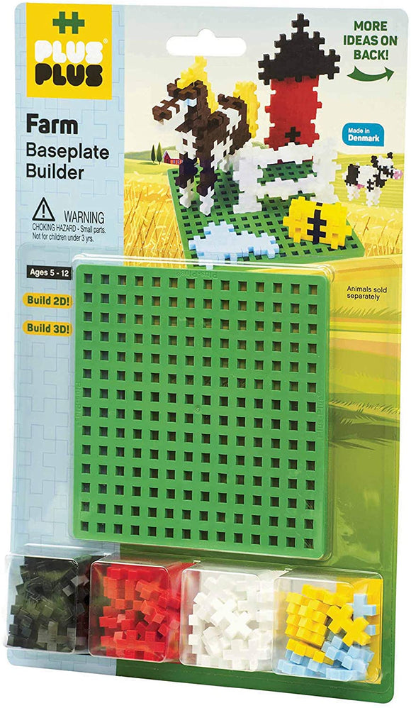 Plus Plus Farm Building Blocks + Baseplate