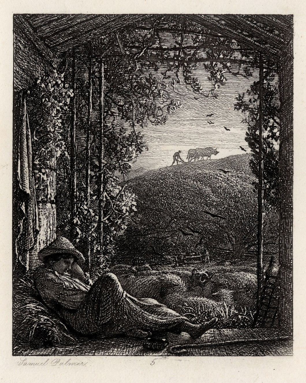 The Sleeping Shepherd, Early Morning