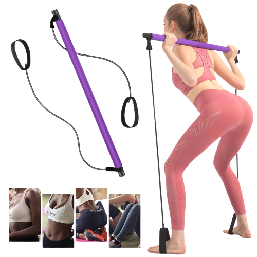 CYF Fitness™ Pilates Bar Kit with Resistance Band