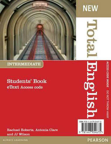 Total English New - Intermediate student's eText access code card