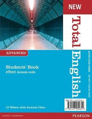 Total English New - Advanced student's eText access code card