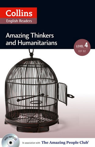 Amazing People Readers 4 (B2): Amazing Thinkers & Humanitarians book + audio-cd