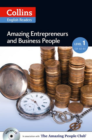 Amazing People Readers 1 (A2): Amazing Entrepreneurs & Business People book + audio-cd