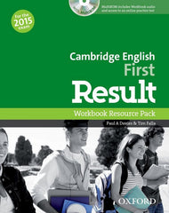 Cambridge English: First Result (for revised 2015 exam) workbook without key + cd-rom pack