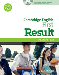 Cambridge English: First Result (for revised 2015 exam) teacher's pack (3 books + dvd)