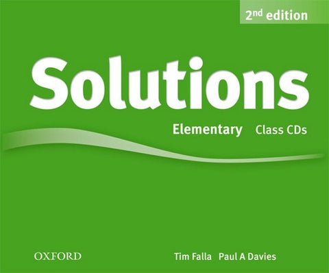 Solutions second edition - Elementary class audio-cd's (3x)