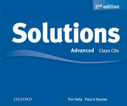 Solutions second edition - Advanced class audio-cd's (3x)