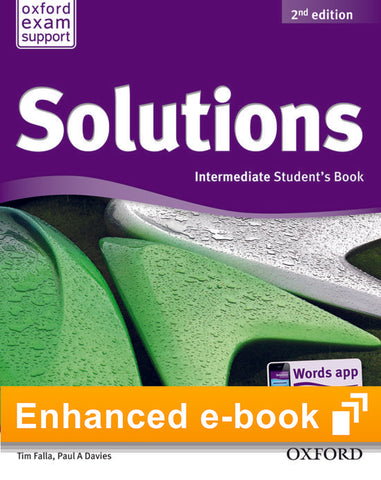 Solutions second edition - Intermediate (olb) student's e-book access code