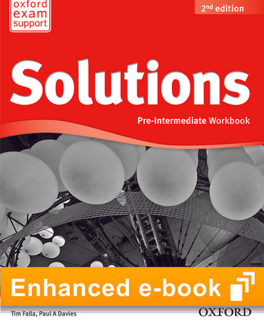 Solutions second edition - Pre-intermediate (olb) workbook e-book access code