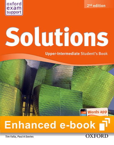 Solutions second edition - Upper-intermediate (olb) student's e-book access code