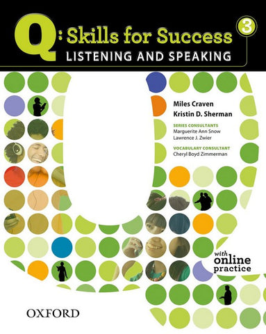 Q: Skills for Success- Listening and Speaking 3 student's book + online practice
